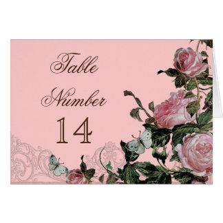 Trellis Rose Vintage - Reception Table Number Card