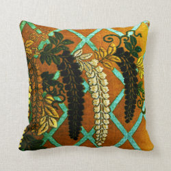 Trellis Trails Throw Pillow