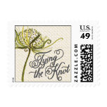Trellis - Tying the Knot - 4C - Green Postage Stamp