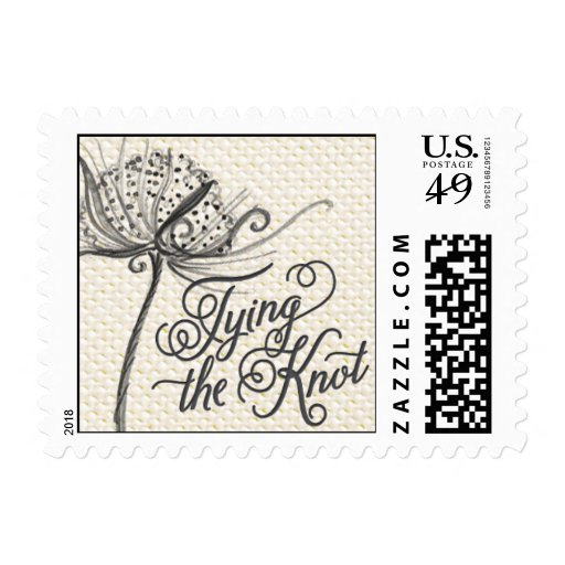 Trellis - Tying the Knot - Gray Timbres Postales