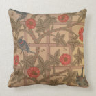 'Trellis' wallpaper design, 1864 Throw Pillow