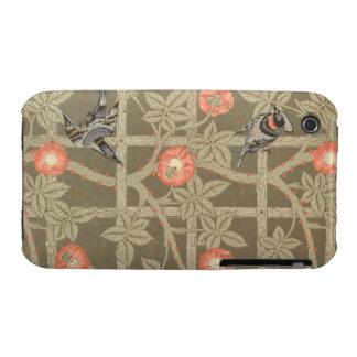 Trellis wallpaper design with a bottle green backg Case-Mate iPhone 3 cases