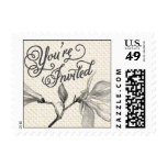 Trellis - You're Invited - Gray Stamp