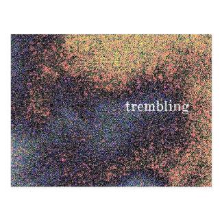 trembling postcard