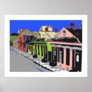 TREME: Barrio francés criollo de New Orleans de la Impresiones