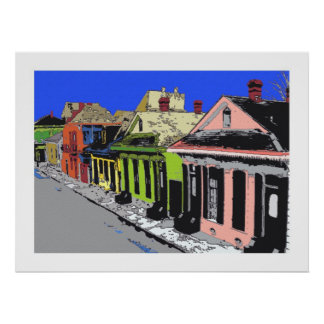 TREME: Creole Cottage New Orleans French Quarter Poster