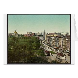 Tremont Street, Boston Mass. classic Photochrom Greeting Card
