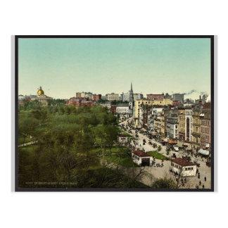 Tremont Street, Boston Mass. classic Photochrom Postcard