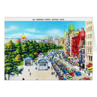 Tremont Street, Boston, Massachusetts Greeting Card