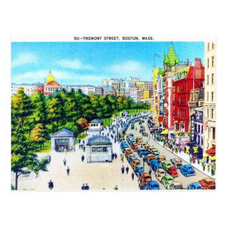 Tremont Street, Boston, Massachusetts Postcard