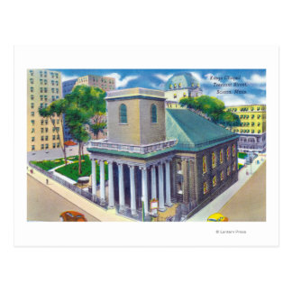 Tremont Street View of Kings Chapel Postcard