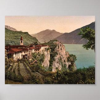 Tremosine Garda Lake of Italy classic Photochro Posters