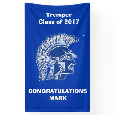 Beach Themed Tremper High School Trojan Banner