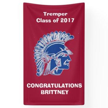 Beach Themed Tremper High School Trojan CUSTOMIZE Banner