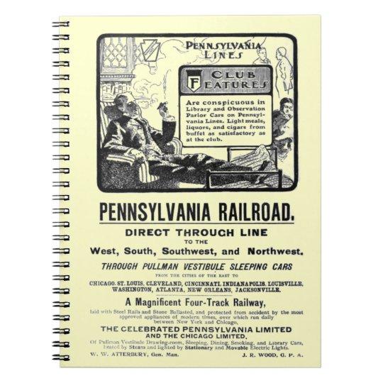 tren 1900 de PRR Pennsylvania Limited Note Book