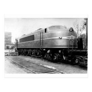 Tren 1939 de la feria de mundo en la exhibición tarjetas postales