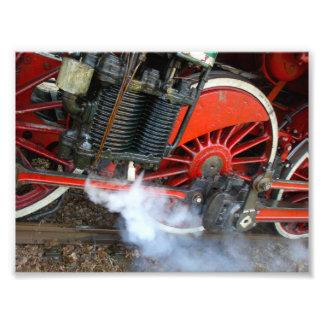 Tren 2 del vapor del vintage foto