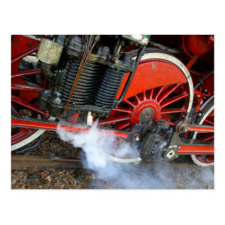 Tren 2 del vapor del vintage tarjeta postal