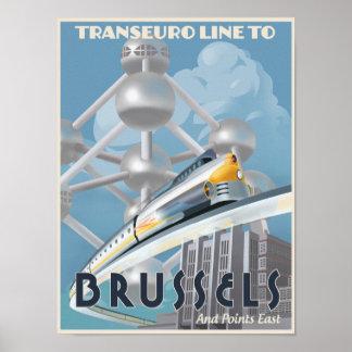 ¡Tren a través de Europa - del futuro Posters