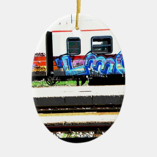 Tren Adorno Navideño Ovalado De Cerámica