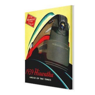 Tren aerodinamizado Hiawatha del vintage Lienzo Envuelto Para Galerías