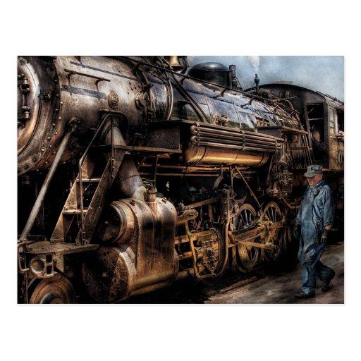 Tren - ahora subiendo tarjeta postal