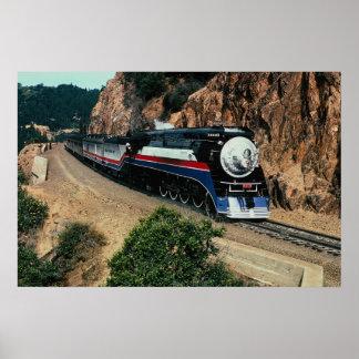 Tren americano 4449 en el cabo de Hornos, Californ Póster