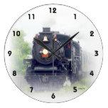 Tren americano del vapor relojes