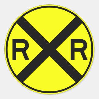 Tren amonestador de la placa de calle de la etiquetas redondas