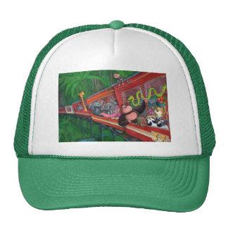 Tren animal de la selva gorros bordados