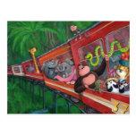 Tren animal de la selva postal