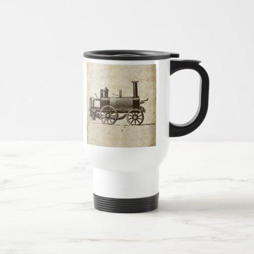 Tren antiguo del vapor del juguete tazas