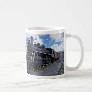 Tren antiguo taza de café
