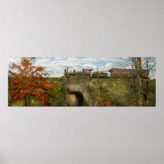 Tren - Arlington, NJ - disfrutar del día del otoño Póster