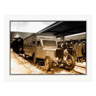 tren-autobús ferroviario del francés de la postales
