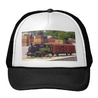 Tren averiado del vapor gorra