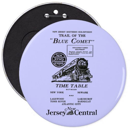 Tren azul central del cometa de New Jersey Pin