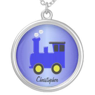 Tren azul colgante redondo