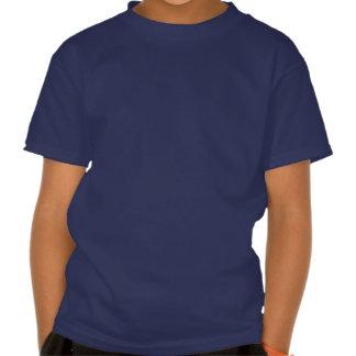 Tren azul de la locomotora de vapor su camiseta