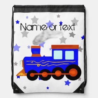Tren azul mochila