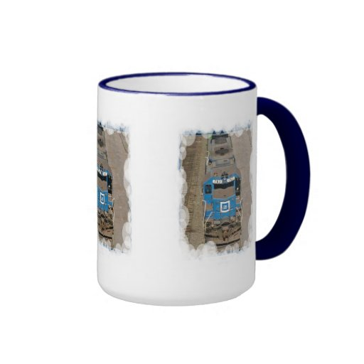 Tren azul taza