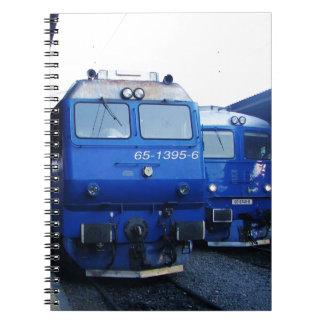 Tren búlgaro libros de apuntes