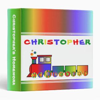 """Tren colorido personalizado carpeta 1 1/2"""""""