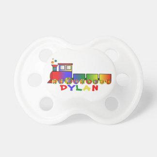 Tren colorido personalizado chupetes de bebe