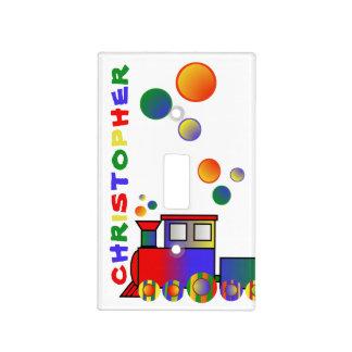 Tren colorido personalizado placas para interruptor
