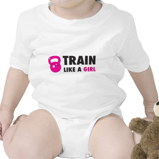 Tren como un chica con Kettlebell Trajes De Bebé