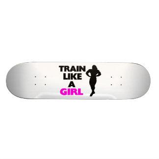 Tren como un chica tablas de skate
