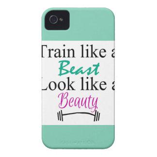 Tren como una bestia carcasa para iPhone 4