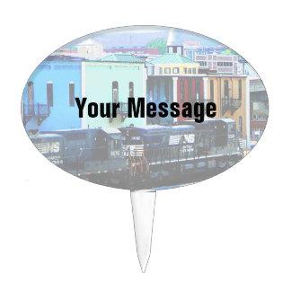 Tren con dos locomotoras Roanoke, VA Decoración Para Tarta