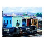 Tren con dos locomotoras Roanoke, VA Tarjeta Postal